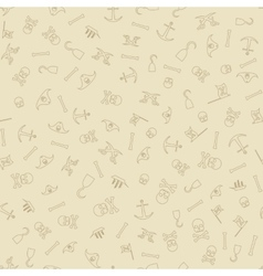 Pirate Seamless Pattern Background vector image vector image