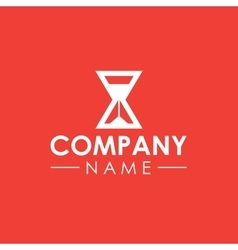 Sand clock company logo template vector image vector image