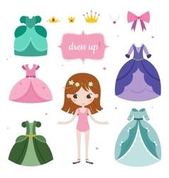 princess with beautiful set vector image
