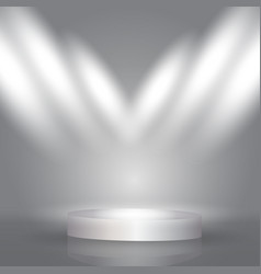 spotlight display background vector image