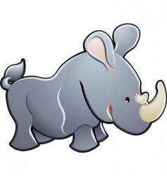 cute rhino illustration vector image