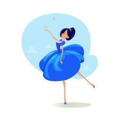 digital funny cartoon fairytale vector image