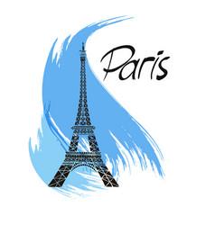 eiffel tower paris france vector image vector image