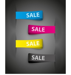 sales tags vector image vector image