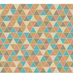 Triangle seamless pattern in vintage colors vector image vector image