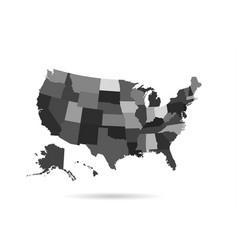 Usa states map isolated for infographic vector