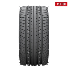 winter tires with metal spikes vector image vector image