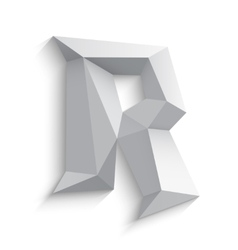 3d letter R on white vector image