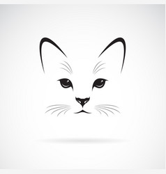 a cat face design on white background pet animals vector image