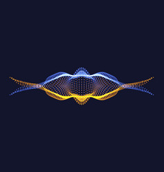 Abstract wavy design for music or data science vector