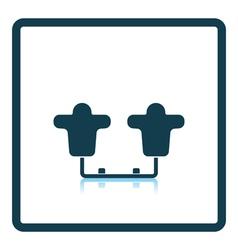 American football tackling sled icon vector