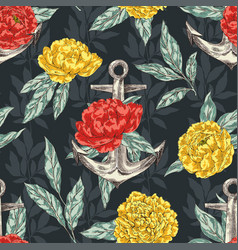 anchor and peones seamless pattern vector image