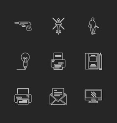 Army armour awards wars air crafts eps icons vector