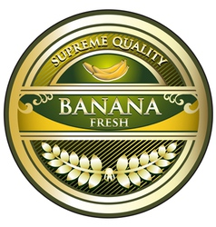 Banana Gold Vintage Label vector image