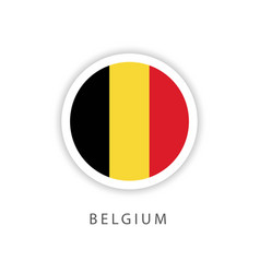 Belgium circle flag template design vector