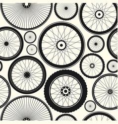 bicycle wheel seamless pattern bike rubber vector image