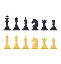 black and white chess game figures vector image