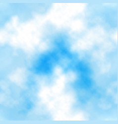 blue sky clouds seamless tile vector image
