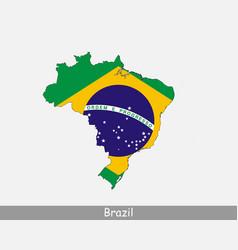 brazil map flag vector image