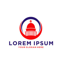 Capitol dome logo vector