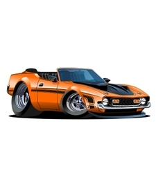 Cartoon retro car vector
