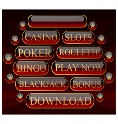 casinobuttons vector image