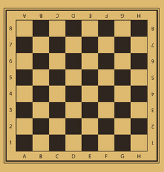 Chess field in beige and black colors with vector