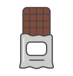 Chocolate bar isolated icon vector