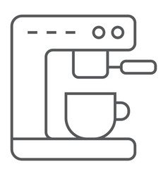 Coffee machine thin line icon kitchen and cooking vector