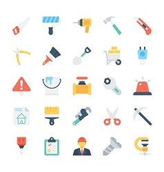 Construction Colored Icons 1 vector