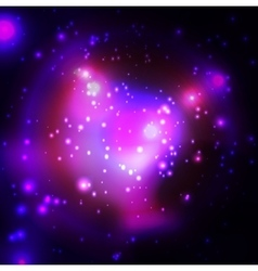 Cosmic backrgound with stars Purple light vector image