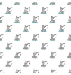 Crane port pattern seamless vector