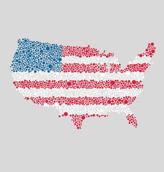 Creative flag usa made colorful dots map america vector