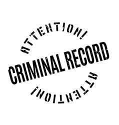 Criminal Record rubber stamp vector image