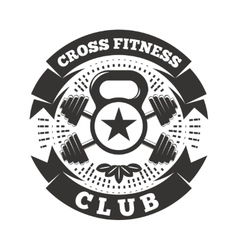 Cross Fitness Club vector