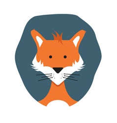 cute adult foxes in cartoon style hand-drawn fox vector image