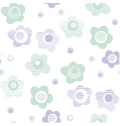 Cute bastyle floral pattern in pastel color vector