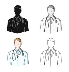 doctorprofessions single icon in cartoon style vector image