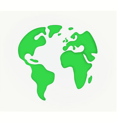 earth silhouette cutout style vector image