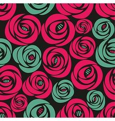 Endless floral vintage pattern vector image