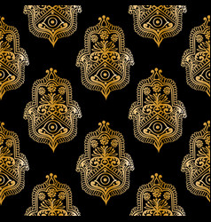 ethnic pattern with hamsa vector image
