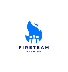 fire team logo flame icon design inspirations vector image