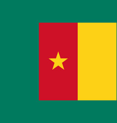 Flag in colors of cameroon image vector