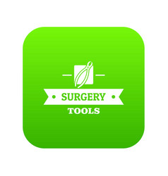Forceps icon green vector