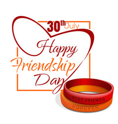 friendship day card 30 july vector image