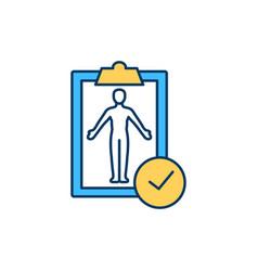 Full body screening rgb color icon vector