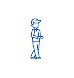 going man line icon concept going man flat vector image