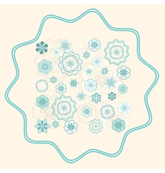 Greenish Blue Ornament on Light Beige Background vector