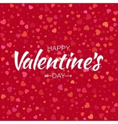 Happy valentines day card hearts background vector