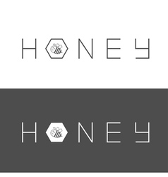 Honeycomb banner set Bee insect animal Beehive vector